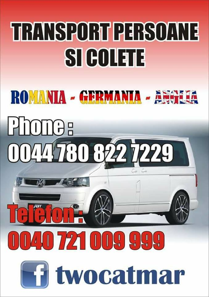Transport – Plecari pe ruta Romania – Germania – UK