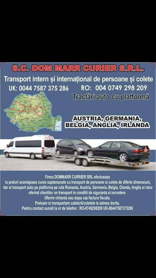 Transport Londra – Romania; Duminica 22 Octombrie