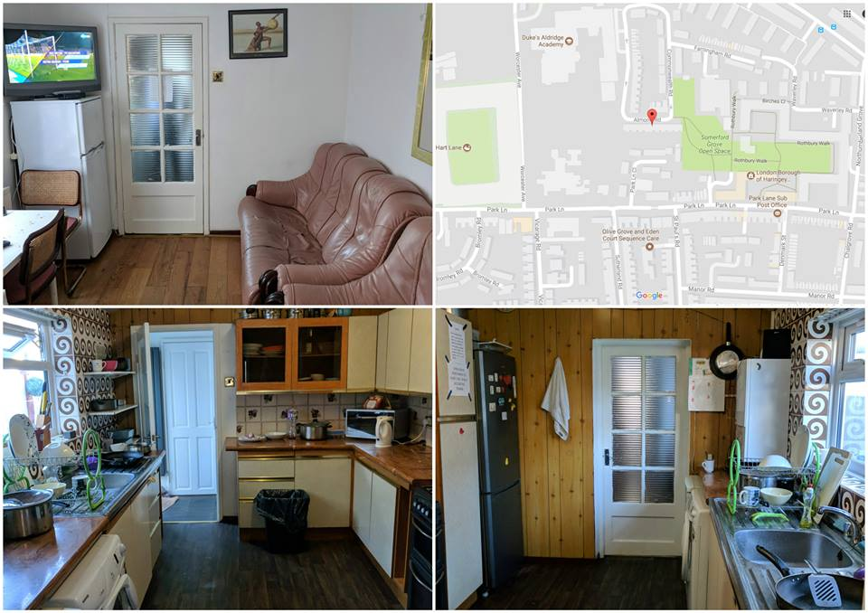 Cazare in Londra-loc in camere duble(2patu) sau triple(3patu) £70/80.sapt ,