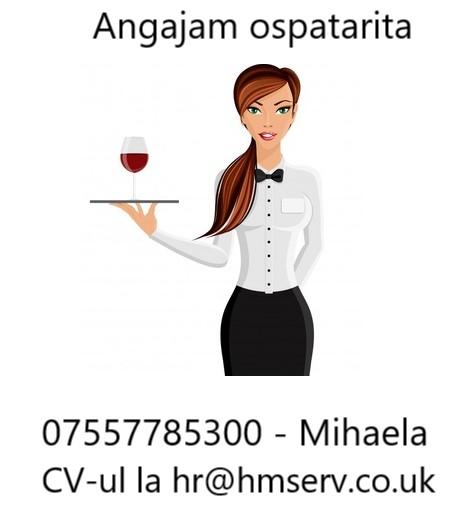 Waitress hotel Londra