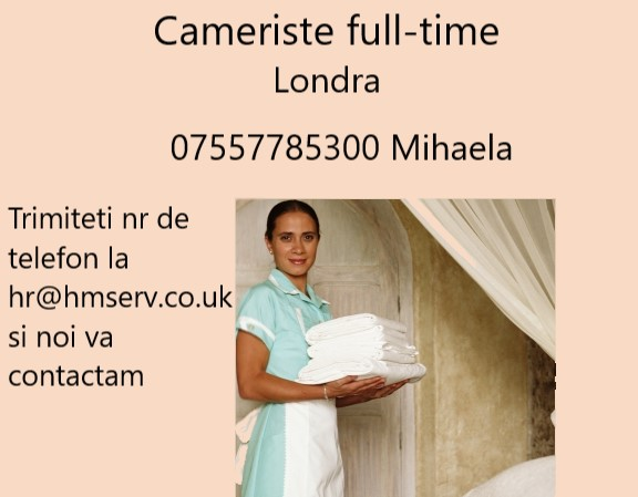 Cameriste full-time Londra