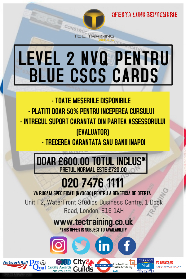 SSSTS/SMSTS/RAILWAY(PTS/LUCAS-ICI) TRAINING SENTINEL CARD-07960049922