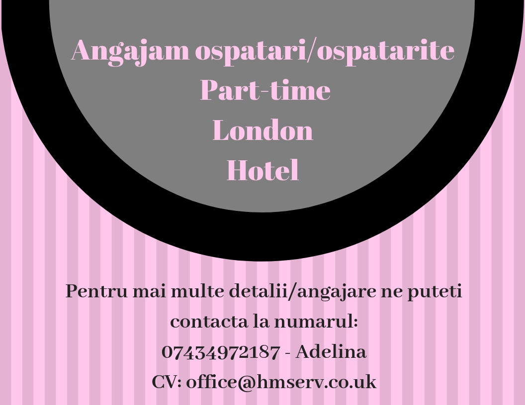 Angajam ospatarita part-time, hotel