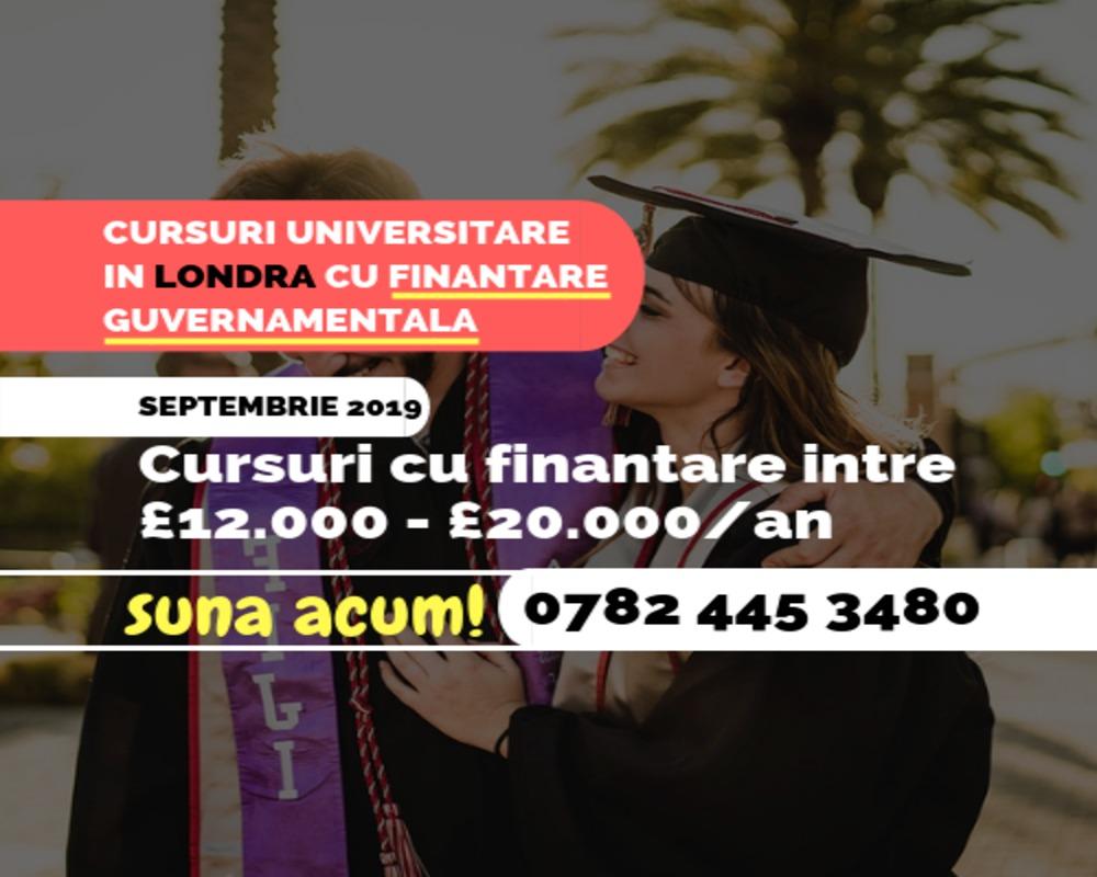 Cursuri universitare finantate de guvern in Londra