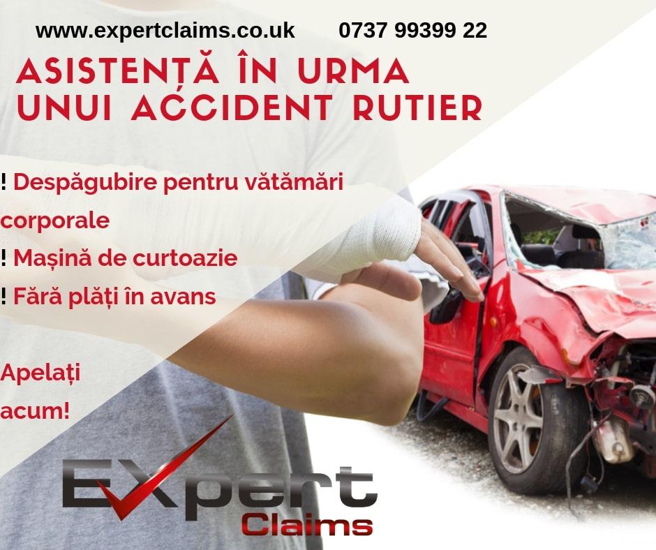 Despăgubire pentru accidente în UK