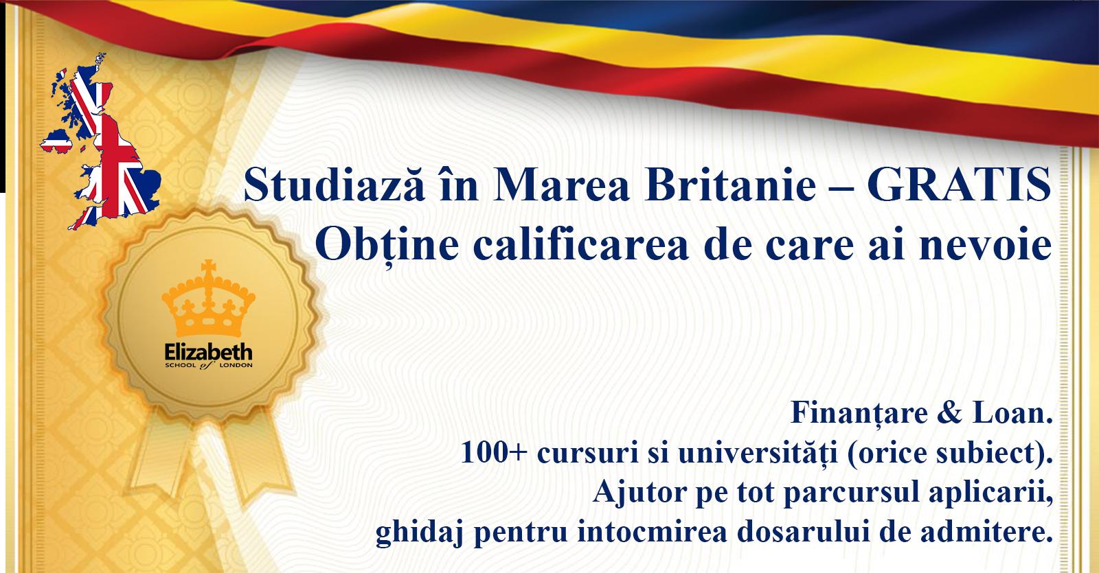 Studiază în Marea Britanie – GRATIS